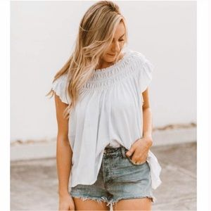 NWT Free People Coconut Blouse